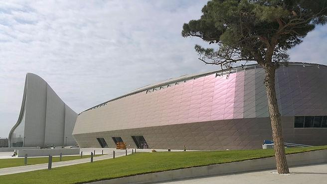 Bakü Congress Center -  Anodised Aluminum Expanded Mesh Suspended Ceiling - Baku_Azerbaijan