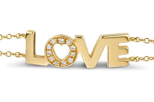 LOVE bracelt Diamond O - yellow gold