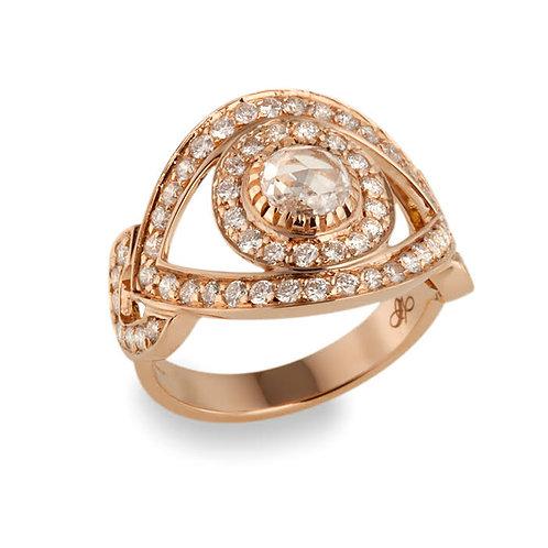 Eye Ring Rose Cut Diamond