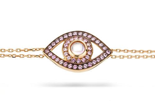 Eye Bracelet in Pink Sapphire