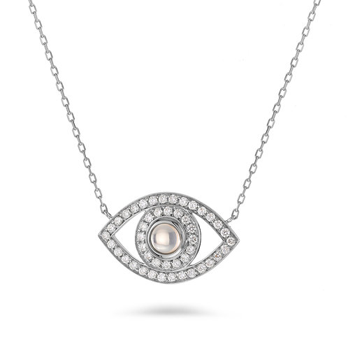 Eye Necklace in White gold and Diamonds