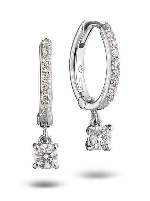 Huggies Earrings White Diamonds