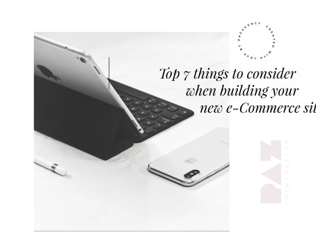 Top 7 things to consider when building your new e-Commerce site