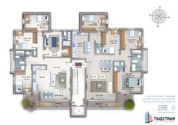 קומה טיפוסית דירות 5 חדרים