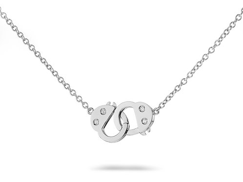 Handcuff Necklace -White gold
