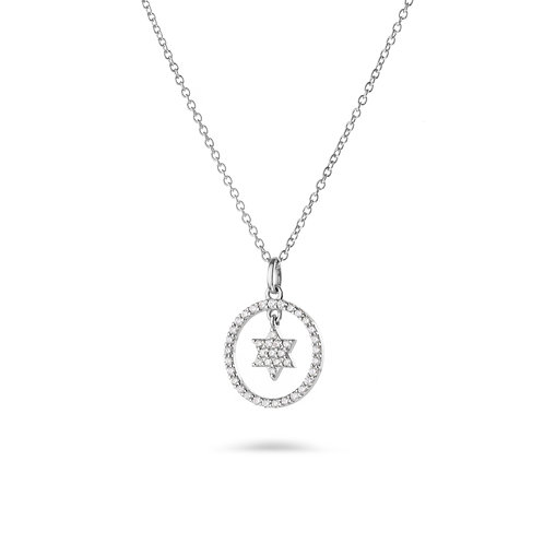 Star of David Pendant-White gold