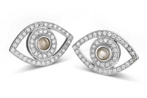 Eye  Diamonds earrings White Gold