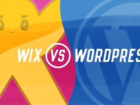 WIX או WORDPRESS מלחמת הפלטפורמות