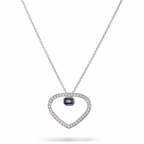 Heart Diamonds and Sapphire