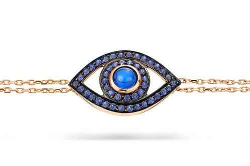 Eye Bracelet in Blue Sapphires