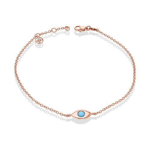 EyeBall Anklet-Rose Gold