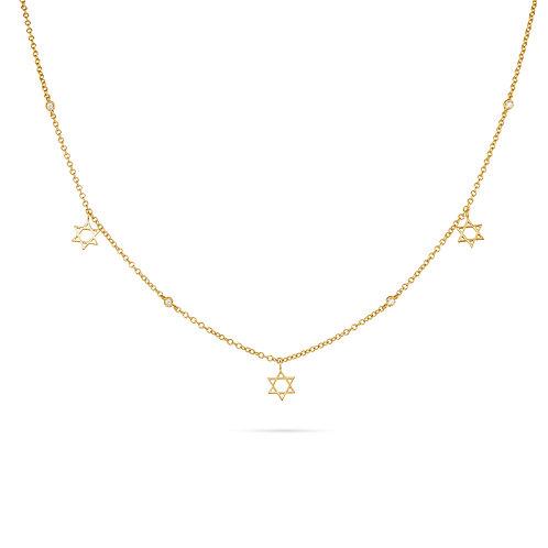 Magen David Necklace-Gold