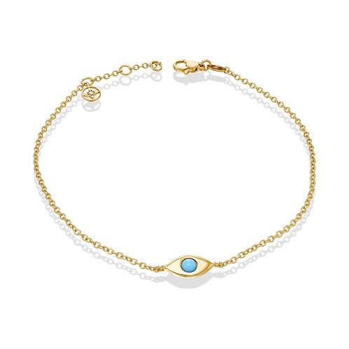 EyeBall Anklet- Gold