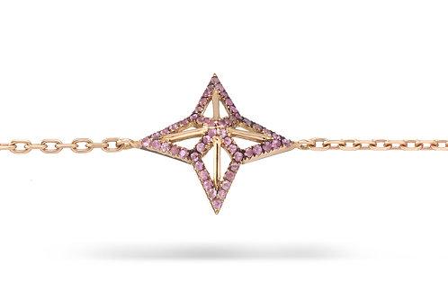 Star bracelet Pink Sapphires