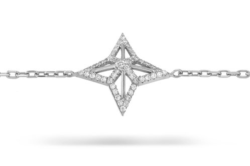 Star Bracelet - White gold