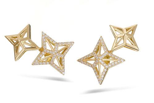 Star earrings - Yellow gold