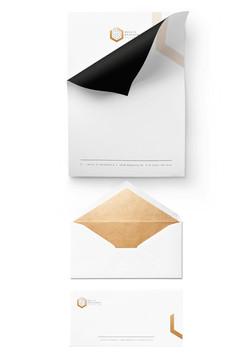 הדמייה עיצוב נייר מכתבים ומעטפות, בצ