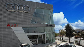 Audi City - Anodised Aluminum Perforated_Trapezoid Facade - Istanbul_Turkey
