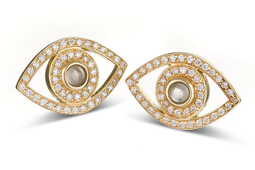 Eye  Diamonds earrings Yellow Gold