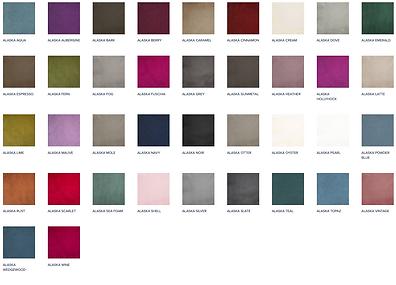 多色展開で発色が美しいラグジュアリーなベルベット