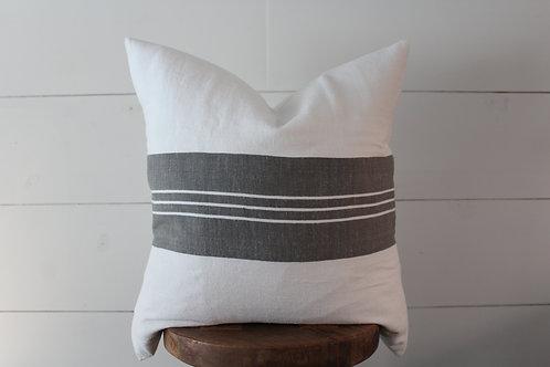Grey Stripe Pillow