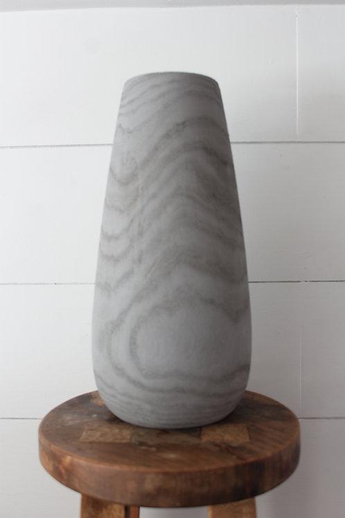 Gray Wood Vase