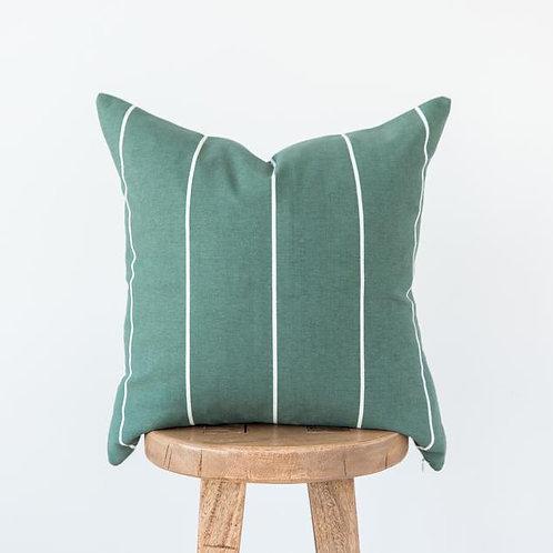 Striped Green Pillow