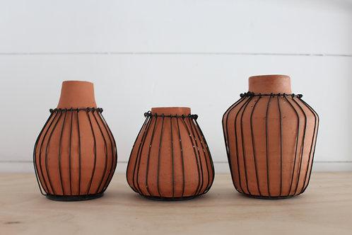 Terracotta + Wire Vase