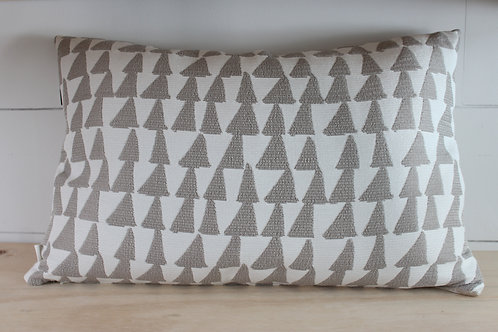 Taupe Triangle Pillow