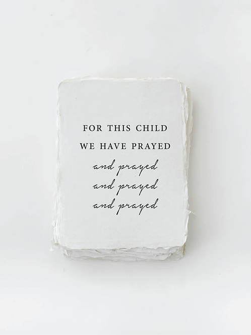 For This Child We Have Prayed Card