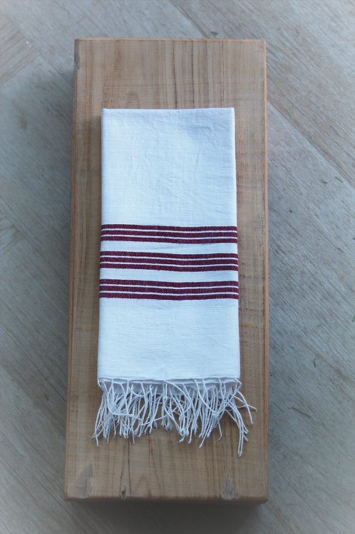 Rust Stripe Tea Towel