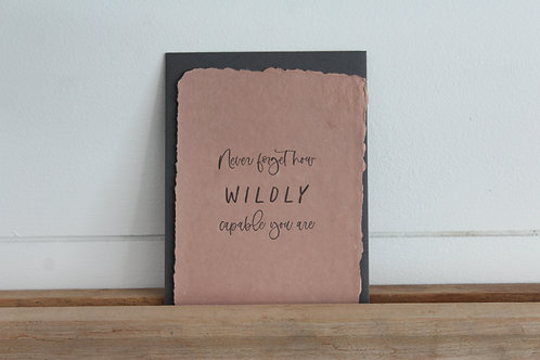 You Are Wildly Capable Card