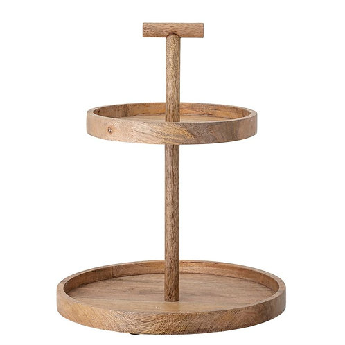 Wood Two-Tier Tray