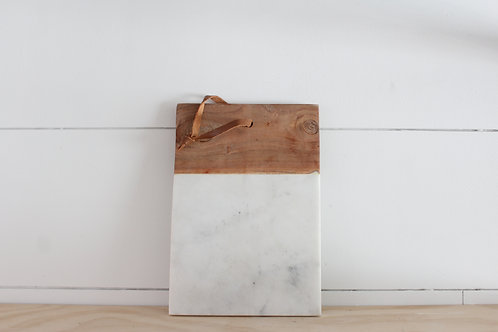 Marble +Mango Wood Board
