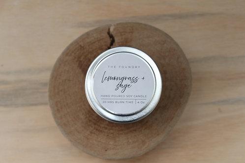 Lemongrass + Sage Candle
