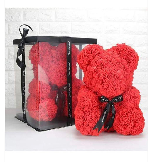 Rose bear in the box