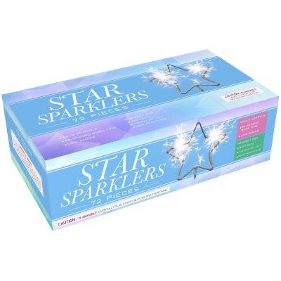 Star Shaped Sparklers in Bulk Box