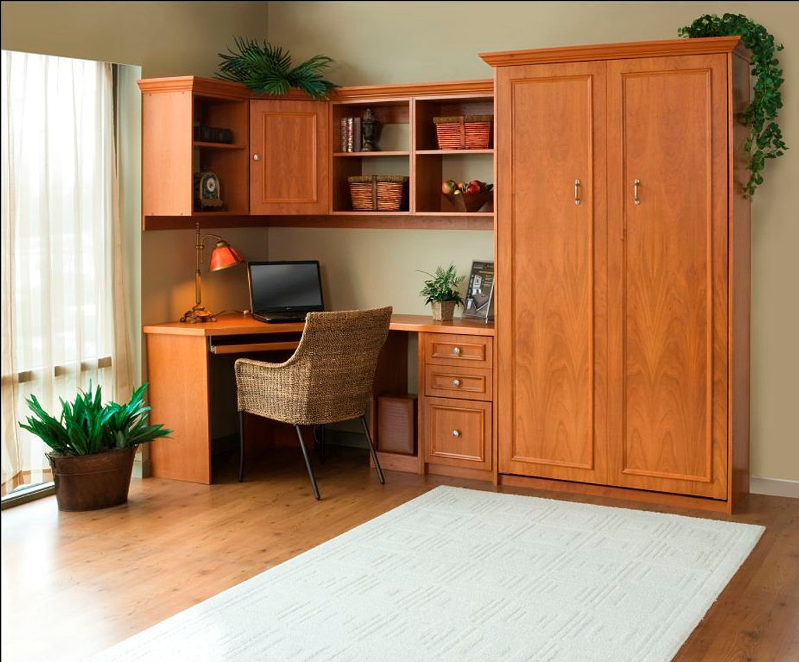 Murphy Bed Design Ideas view in gallery sliding door and murphy bed create a bedroom out of an open niche Home Office Murphy Bed Design Ideas