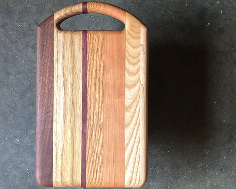 Serving Board - Asymmetrical Mixed Hardwoos
