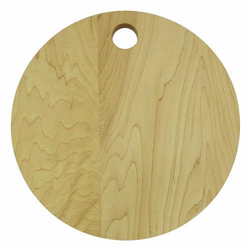 "13"" Round Hard Maple Cutting Board"