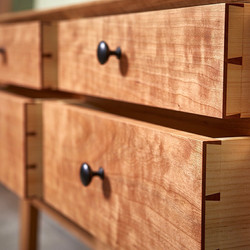 Hand-cut dovetail drawers, Cherry and Pine