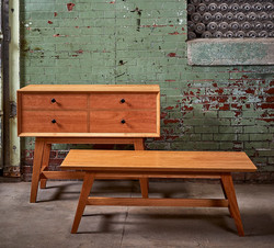 Media Console and Coffee Table, Cherry