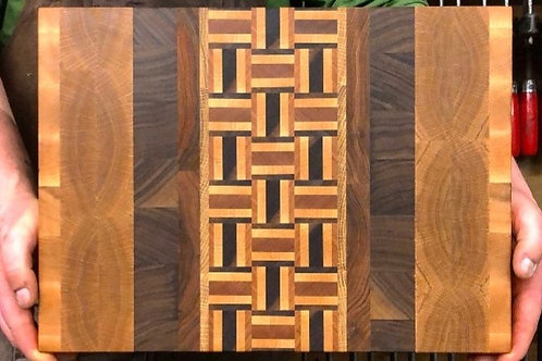 Patterned End-Grain Cutting Board