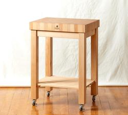 End Grain Butcherblock Cart, Hard Maple