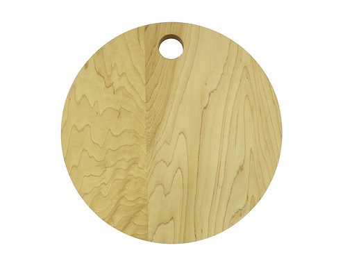 "13"" Round Hard Maple Cutting Board"