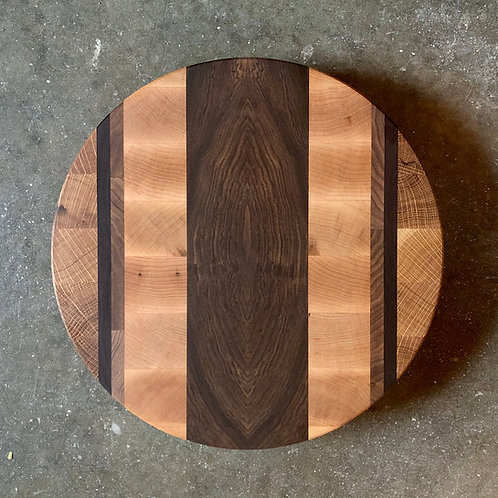 """12"""" Patterned Round End Grain Cutting Board"""