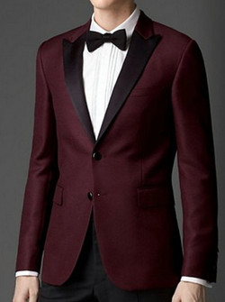 2015-Fashion-Men-Dark-Red-Tuxedo-Black-Peak-Lapel-Two-Button-Wedding-Suit-Jacket-Black-Pants