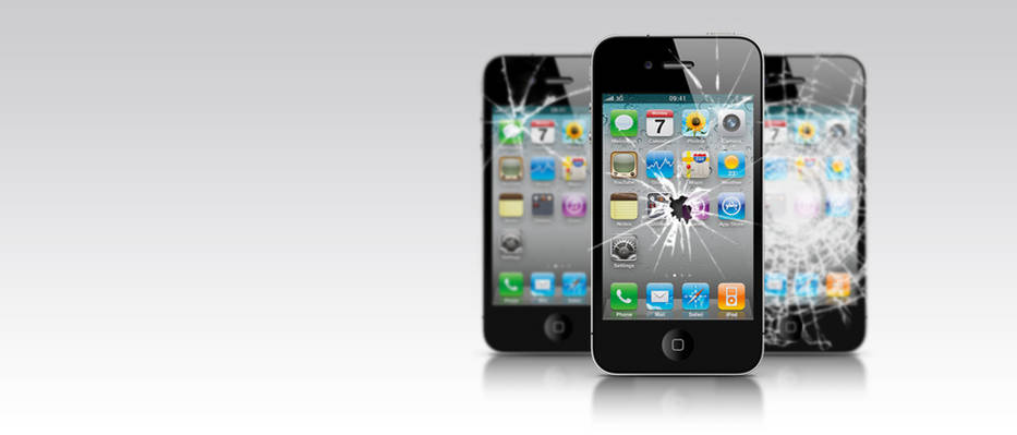 Smashed iPhones