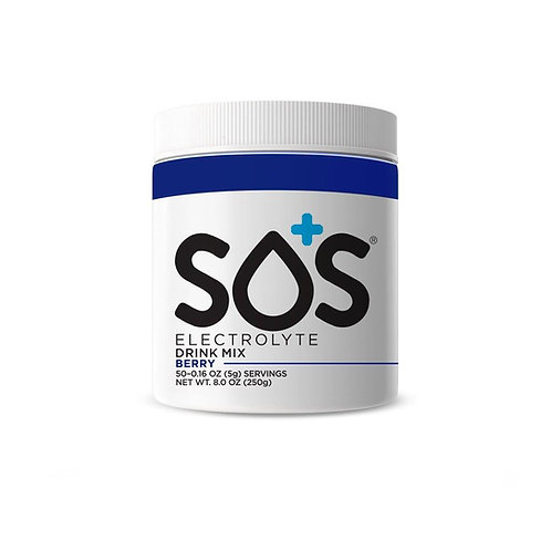SOS Hydration Elektrolytenpoeder Blauwe Bes | Pot-50