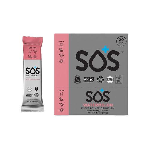 SOS Hydration Elektrolytenpoeder Watermeloen | 20-Pack